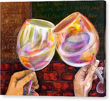 Debi Pople Canvas Print - Cheers by Debi Starr