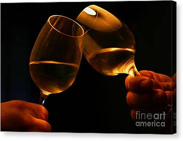 Tasting Canvas Print - Cheers by Patricia Hofmeester