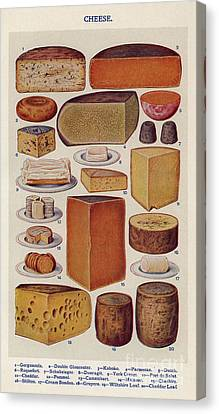 Cheese 1900s Uk Isabella Beeton  Mrs Canvas Print by The Advertising Archives