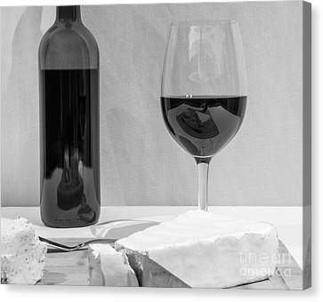 Cheese And Wine Cliche Canvas Print by John Debar