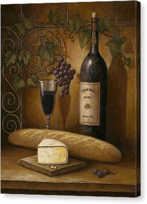 Cheese And Wine Canvas Print by John Zaccheo