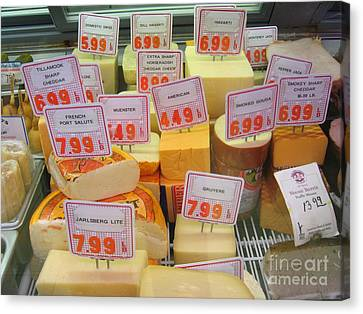 Cheese Display Canvas Print by James B Toy