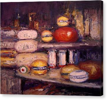 Cheese Shop Window Canvas Print by R W Goetting