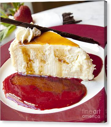 Cheesecake Canvas Print by New  Orleans Food