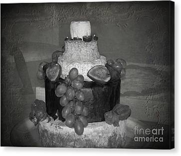 Cheesey Wedding Cake Canvas Print by Michelle Orai