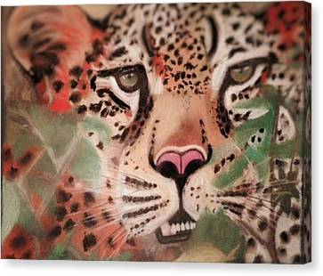 Cheetah In The Grass Canvas Print by Renee Michelle Wenker