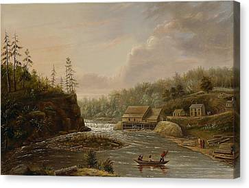 Cheevers Mill On The St. Croix River Canvas Print by Henry Lewis