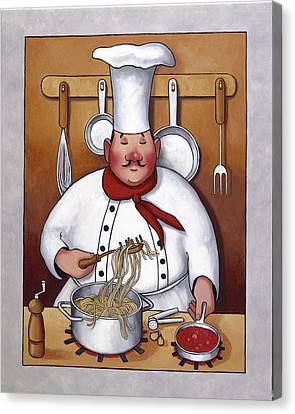 Chef 4 Canvas Print by John Zaccheo