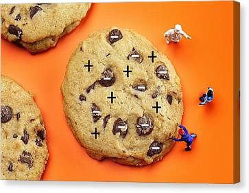 Canvas Print featuring the photograph Chef Depicting Thomson Atomic Model By Cookies Food Physics by Paul Ge