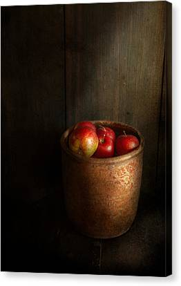 Chef - Fruit - Apples Canvas Print by Mike Savad