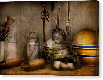Chef - Ingredients - Breakfast At Grandpa's Canvas Print by Mike Savad