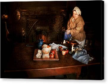 Chef - Kitchen - Today's Menu  Canvas Print by Mike Savad