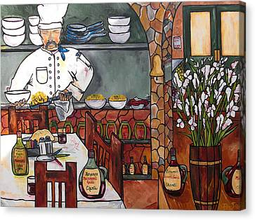 Chef On Line Canvas Print by Patti Schermerhorn