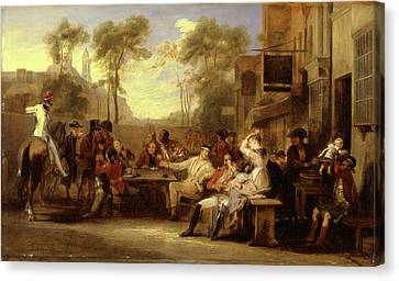 Tankard Canvas Print - Chelsea Pensioners Receiving The Gazette Announcing by Litz Collection