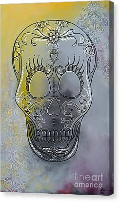 Chelsea Sugar Skull Canvas Print