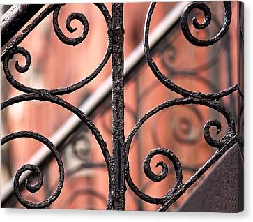 Bold Canvas Print - Chelsea Wrought Iron Abstract by Rona Black