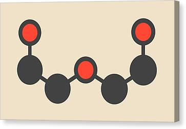 Chemical Solvent Molecule Canvas Print by Molekuul