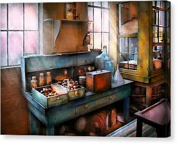 Chemist - Making Glue Canvas Print by Mike Savad