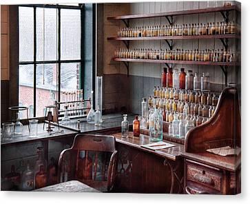 Chemist - Perfume Science  Canvas Print by Mike Savad
