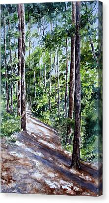 Canvas Print featuring the painting Cheraw Trail by Mary McCullah
