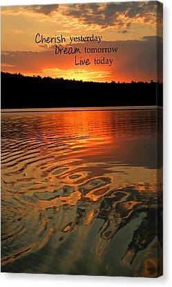 Cherish Dream Live Canvas Print