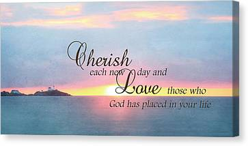 Cherish Love Canvas Print by Lori Deiter