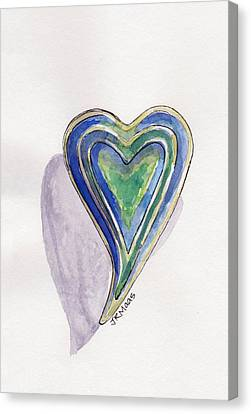 Canvas Print featuring the painting Cherished Heart by Julie Maas