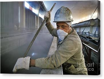 Chernobyl Decontamination Plant Canvas Print by Patrick Landmann