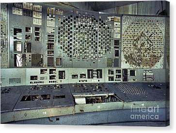 Chernobyl Reactor 4 Control Panel Canvas Print by Patrick Landmann