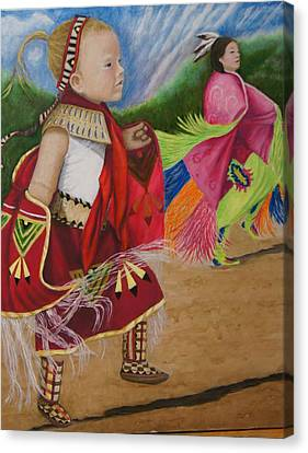 Cherokee Ribbon Dancers Canvas Print