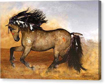 Mix Medium Canvas Print - Cherokee by Valerie Anne Kelly