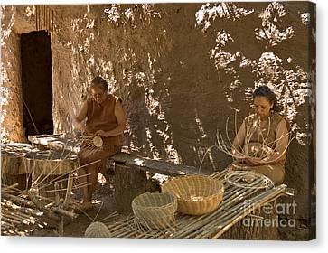 Cherokee Women Making Baskets Canvas Print
