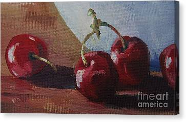 Cherries 2 Canvas Print by John Clark