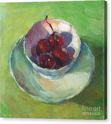 Cherries In A Cup #2 Canvas Print by Svetlana Novikova