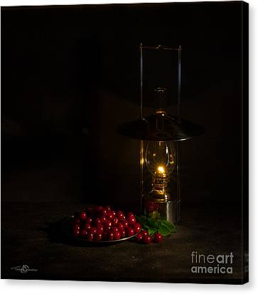 Cherries In The Night Canvas Print by Torbjorn Swenelius