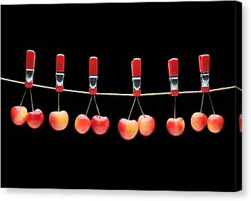 Canvas Print featuring the photograph Cherries by Krasimir Tolev