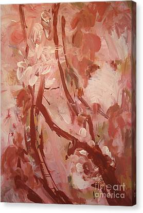 Canvas Print featuring the painting Cherry Blossom by Fereshteh Stoecklein