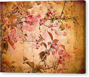 Cherry Blossom Tapestry Canvas Print by Jessica Jenney