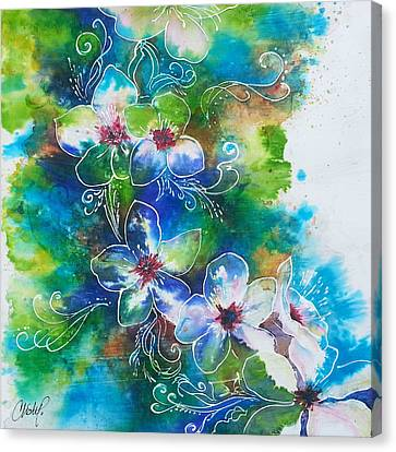 Canvas Print featuring the painting Cherry Blossom Tree by Christy  Freeman