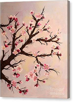 Cherry Blossoms 2 Canvas Print by Barbara Griffin