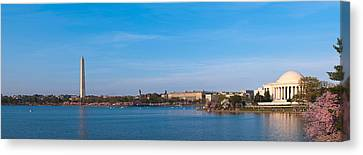 Cherry Blossoms At The Tidal Basin Canvas Print by Panoramic Images