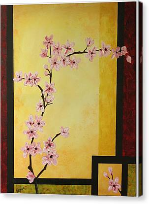 Cherry Blossoms Canvas Print by Dawn Grice