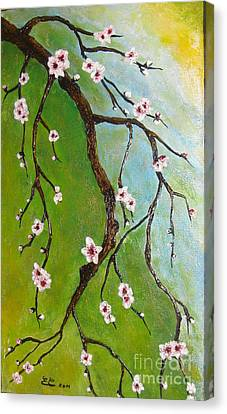Cherry Blossoms Canvas Print by Elena  Constantinescu
