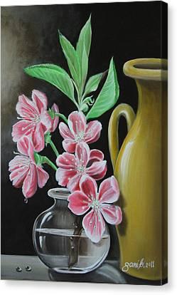 Cherry Blossoms Canvas Print by Gani Banacia