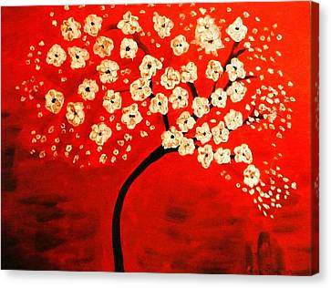 Cherry Blossoms Canvas Print by Shelia Gallaher Chancey
