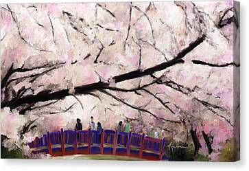 Cherry Blossoms Canvas Print by Kume Bryant