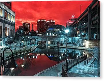 Cherry Canal Canvas Print