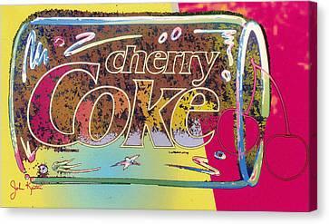 Cherry Coke 5 Canvas Print by John Keaton