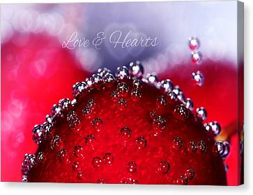 Cherry Fizz Hearts With Love Canvas Print by Tracie Kaska