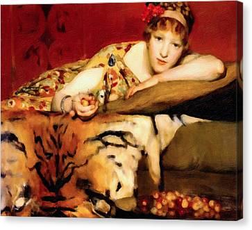 Cherry Girl Canvas Print by Georgiana Romanovna